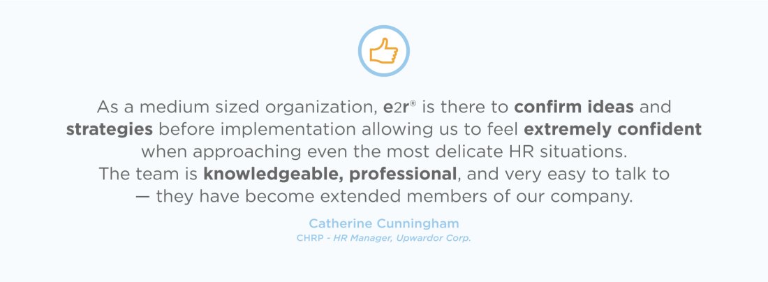 The e2r® team is knowledgeable, professional, and very easy to talk to